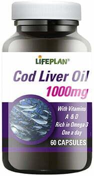 Lifeplan Cod Liver Oil High Strength 1000mg - 60 capsules