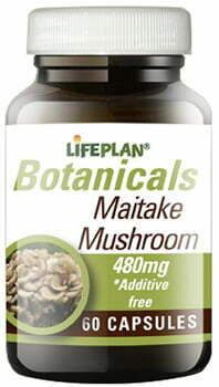Lifeplan Maitake Mushroom 480mg 60 caps