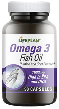 Lifeplan Omega 3 Fish Oils 1000mg with Vitamin E - 90 capsules