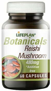 Lifeplan Reishi Mushroom 480mg 60 caps