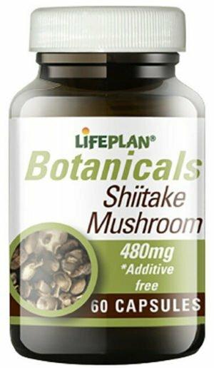 Lifeplan Shiitake Mushroom 480mg 60 caps