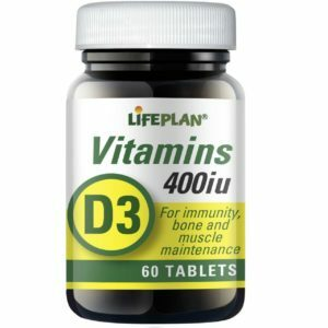 Lifeplan Vitamin D3 400iu - 60 tablets