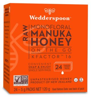 Wedderspoon Honey On The Go KFactor 16+ Manuka Snap Packs 120g
