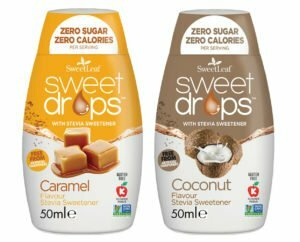 Sweetleaf Stevia Sweet Drops 48ml - Mixed Twin Pack - Caramel & Coconut
