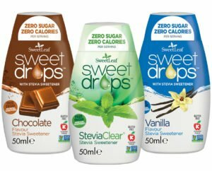 Sweetleaf Stevia Sweet Drops 48ml– MIXED TRIPLE PACK - Clear & Vanilla & Chocolate