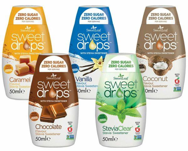Sweetleaf Stevia Sweet Drops 48ml – MIXED PACK 5