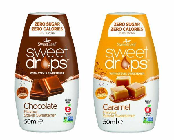 Sweetleaf Stevia Sweet Drops 48ml - MIXED TWIN PACK – Caramel & Chocolate