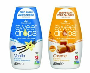 Sweetleaf Stevia Sweet Drops 48ml - MIXED TWIN PACK – Caramel & Vanilla