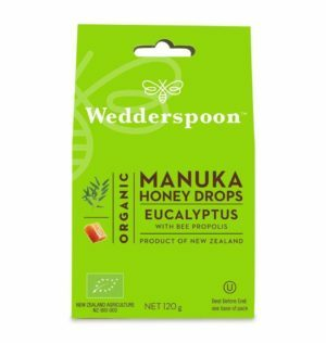Wedderspoom ORGANIC Natural Manuka Honey Drops Eucalyptus