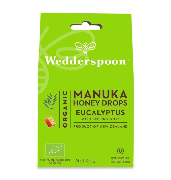 Wedderspoom ORGANIC Natural Manuka Honey Drops Eucalyptus