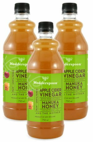 Wedderspoon Apple Cider Vinegar with Manuka Honey 3 x 750ml TRIPLE PACK