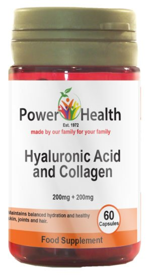 Power Health Hyaluronic Acid 200mg & Collagen 200mg - 60 capsules