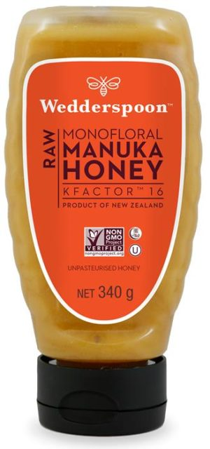Wedderspoon RAW Manuka Honey SQUEEZY KF16 - 340g