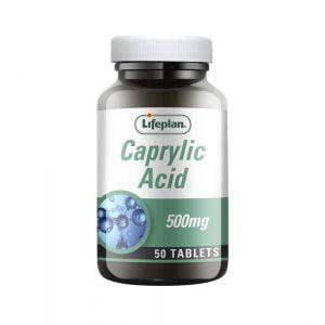 Lifeplan Caprylic Acid 500mg 50 tablets