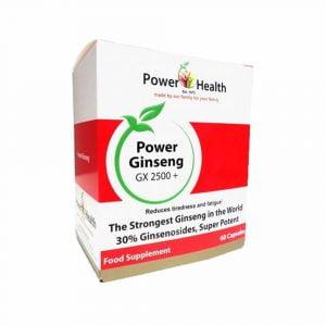 Power Health Power Ginseng 100mg GX2500+ - 60 capsules