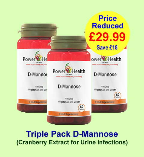 3 pots of D-Mannose for Bladder infections from only £29.99